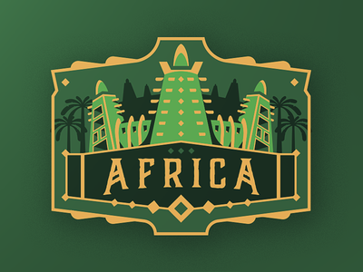 Africa Badge Design gaming esport medieval illustration drawing vector sportslogo mascot palmtree badge mali africa