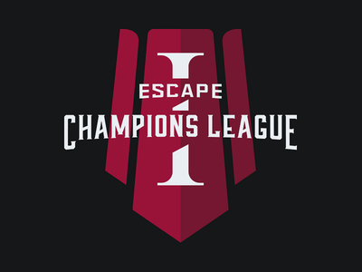 Escape Champions League tournament sportslogos medieval branding illustration badges gaming esport age of empires