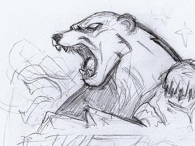 Polar Bear Mascot Sketch roar logo sports logo sports gaming animal angry polarbear esport badge mascot illustration sketch bear ice polar bear