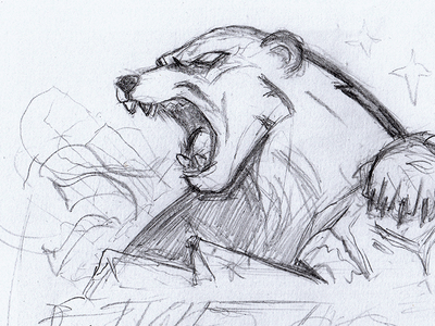 Polar Bear Mascot Sketch roar logo sports logo sports gaming animal angry polarbear esport badge mascot illustration sketch bear ice polar bear