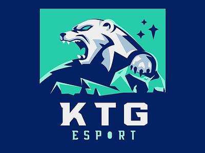 KTG Esport sportslogo esports esport mascot vector polar bear ice bear sketch illustration mascot badge esport polarbear angry animal gaming sports sports logo logo roar