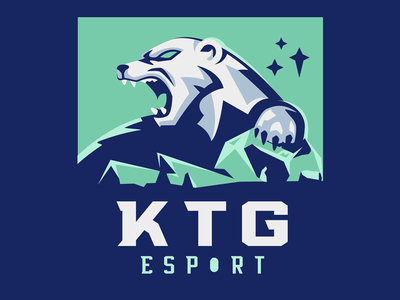 KTG Esport sportslogo esports esport mascot vector polar bear ice bear sketch illustration mascot badge esport polarbear angry animal gaming sports sports logo logo roar