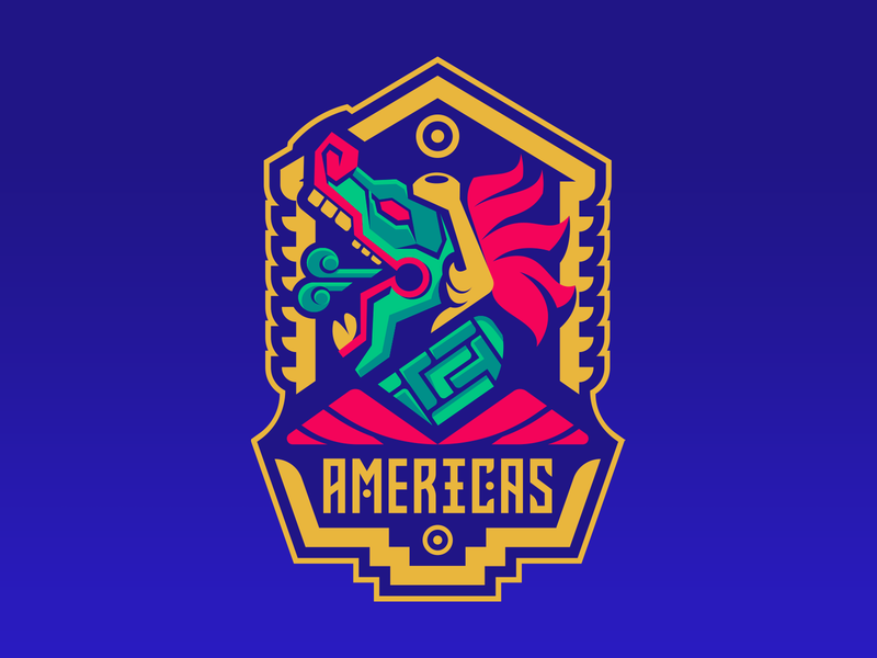 Americas Aztec gaming logo aztecs esport mascot esportlogo sport logo branding twitch tournament age of empires escape champions league sportslogo mascot esport mexico mayan dragon aztec badge snake