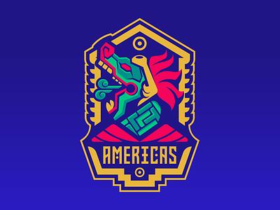Americas Aztec gaming logo aztecs esport mascot esportlogo sport logo branding twitch tournament age of empires escape champions league sportslogo mascot esport mexico mayan dragon aztec badge snake