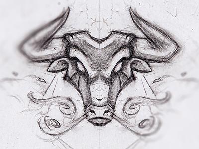 Bull illustration vector espanol cow sketch drawing badge esport mascot mascot logo sportslogo gaming twitch spain pinata angry smoke streamer mascot illustration taurus bull