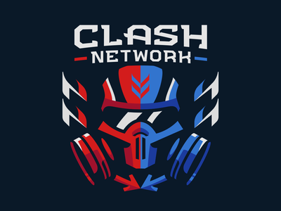 Clash Network mascot logo artwork esport artwork gaming logo esport mascot sport logo twitch sportslogo mascot esport badge esports logo vector fps arena pvp military gas mask clash