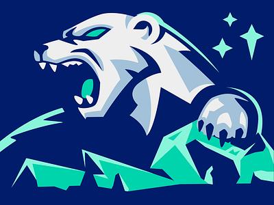 Polar Bear Mascot roar sports logo sports logo sportslogo animal angry gaming aurora illustration esport mascot esport mascot vector glacier north ice polar bear polar bear
