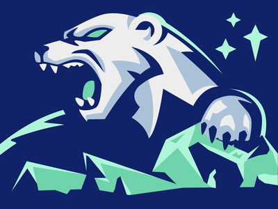 Polar Bear Mascot roar sports logo sports logo sportslogo animal angry gaming aurora illustration esport mascot esport mascot vector glacier north ice polar bear polar bear