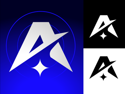 Ascension shoot fly star rocket sports gaming vector design futuristic blue legends apex legends fps esport minimal a space ascension apex logo