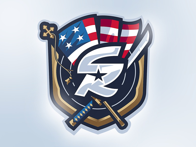 SamuraiRevolution mascot logo design mascot design esport mascot age of empires mascot logo sportslogo sports badge logo gaming illustration esport mascot japanese sword katana american flag revolution samurai