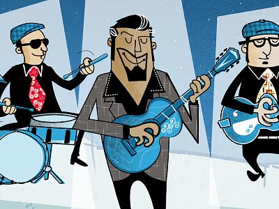 Johnny Moon 50s rockabilly vectorial illustration