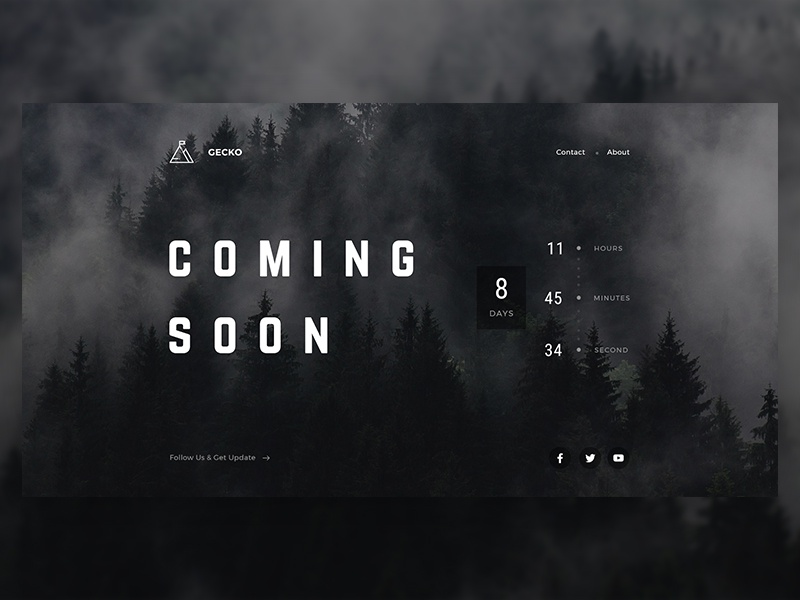 Coming Soon creative landing page landing page coming soon page app landing