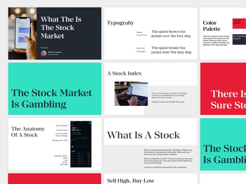 Stock Market Presentation branding presentation design graphic design design