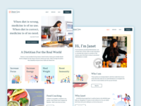 Dietitian's Website Exploration illustration website ui design