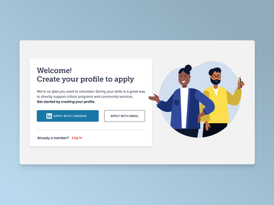 Sign Up Page - Catchafire signup ui website ux design illustration
