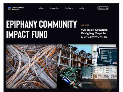 Epiphany Community Impact Fund - Venture Capital Website vector branding logo website venture capital ui ux design