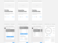 Wireframes for a mobile investment app