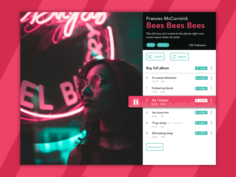 Music Concept 1 ethereum cryptocurrency ux