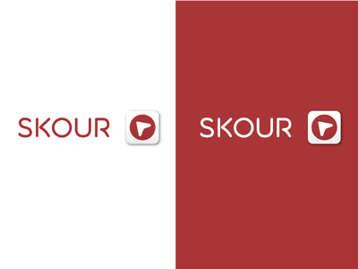 Skour App Logo arrow red app logo