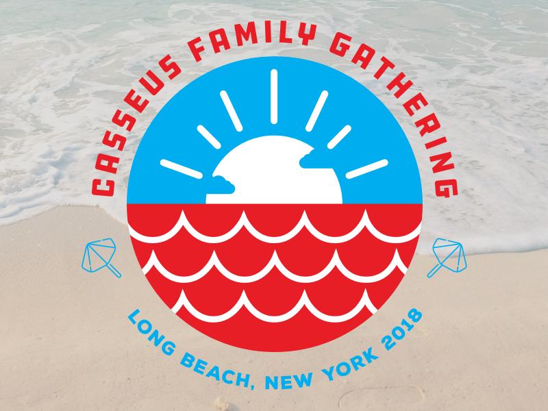 Family Gathering Badge ddc hardware beach illustrator badge