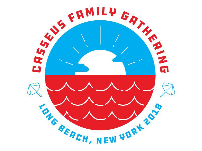 Family Gathering Badge V2 clouds sunset flat haiti badge illustration