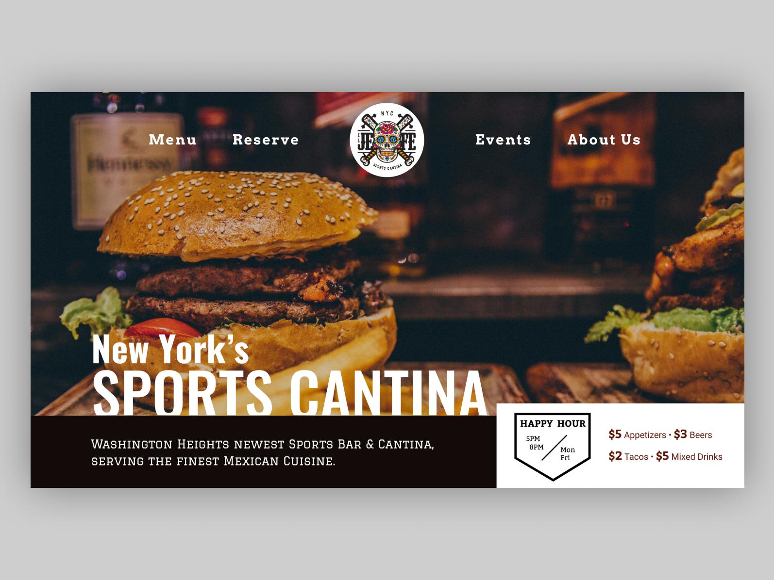 Baseball Restaurant Second Inning figma typography sports design restaurant restaurant website sport