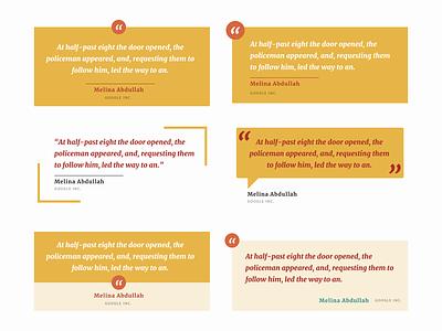Testimonial Card Experiments testimonial testimonials typography ui design