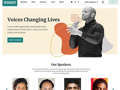 SpeakOut.org - Redesign branding website design ui nonprofit work in progress