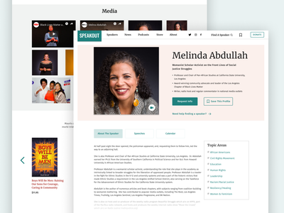 SpeakOut Speaker Profile website design ux nonprofit