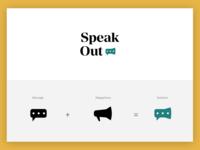SpeakOut Logo Concept - Megaphone