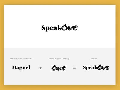 SpeakOut Logo Concept - Lettering branding typography logo vector illustration design