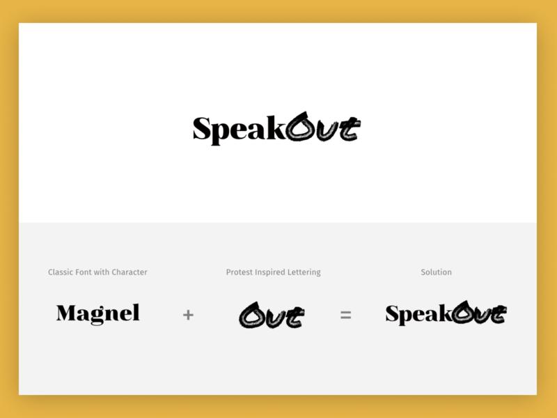 SpeakOut Logo Concept - Lettering