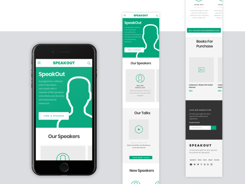 SpeakOut Redesign - Homepage Mobile