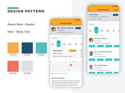 Schedule Medical Appointment App medical app product design design ui mobile app