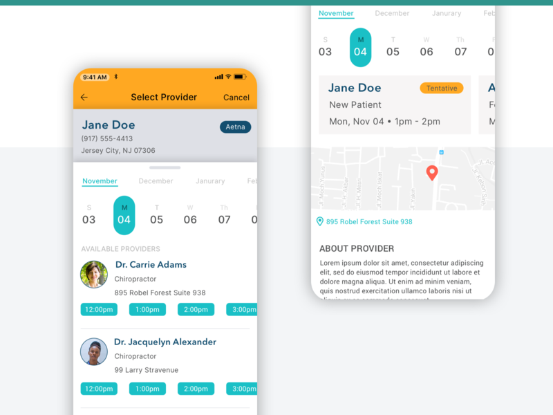 Schedule Medical Appointment App medical app product design design ui mobile app
