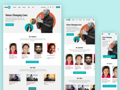 SpeakOut Responsive Layout