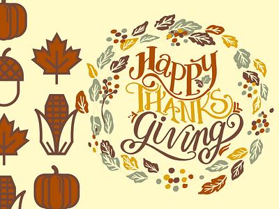 Happy Thanksgiving T-shirt Design branding graphic design animation