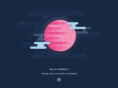 Hello Dribbble first shot dribbble hello