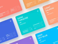 Web Color Cards