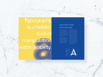 Magazine Spread layout blur spread editorial magazine