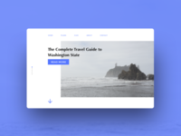 Travel blog landing page design