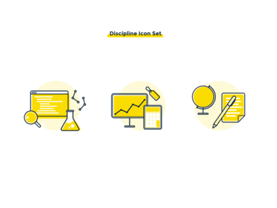 Discipline Icon Set discipline degree design icon