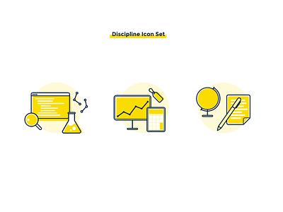 Discipline Icon Set discipline degree design icon
