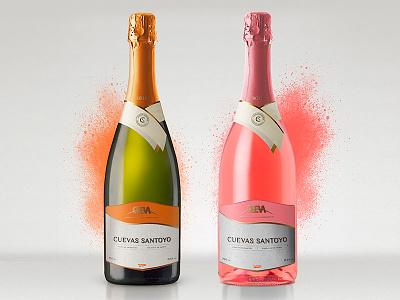 Cuevas Santoyo Wine rebranding cueva santoyo cueva sparkling winery label design label wine label wine branding