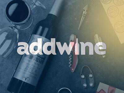 Addwine. Wine store branding wine branding toltol studio web addwine logo toltol