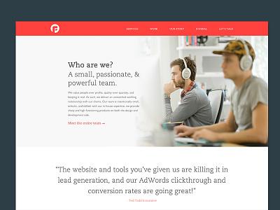 New Focus Lab Site website ui focus lab profile site color brand new site