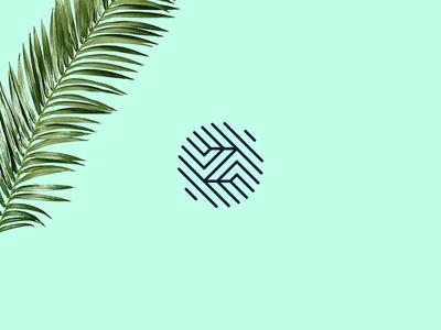 Monogram Z mint green angles lines logo letter monogram