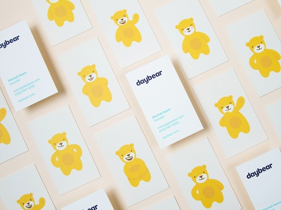Daybear Final Branding childcare logotype logo branding cards illustration bear children