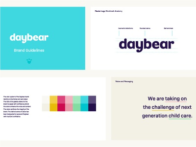 Daybear Guidelines daycare childcare bear identity logo brand guidelines