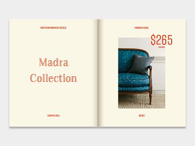 Textile Catalog spread cmyk paper red catalog comp print textile
